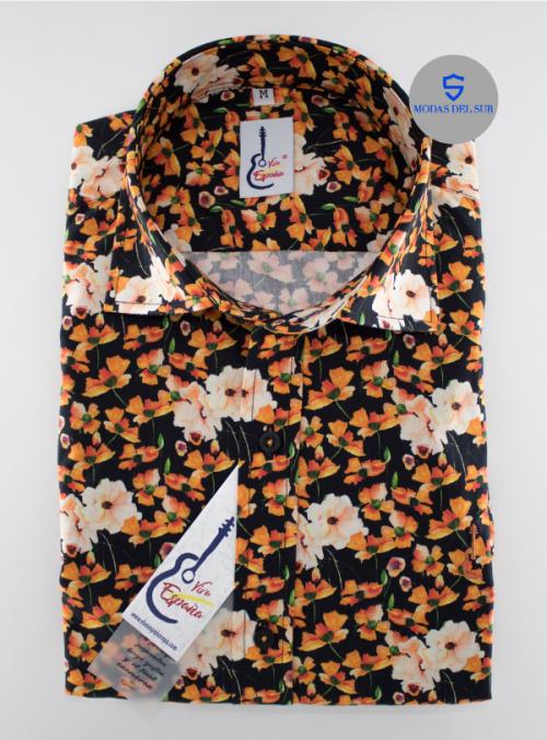 camisa flores de la marca viva España