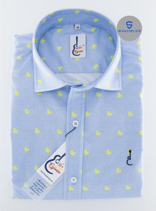 camisa con patitos de la marca viva España