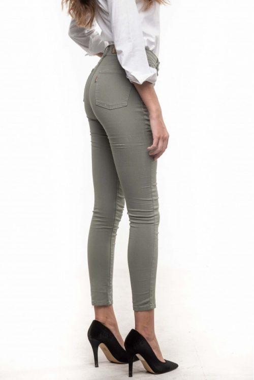 Pantalón color kaki de la marca a la Vaquera