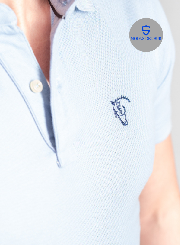 Polo oxford-La Garrocha- azul claro
