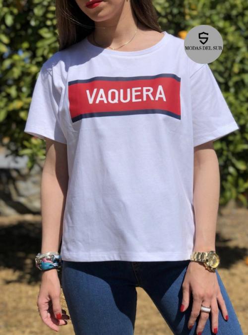 camiseta con logo mujer blanco