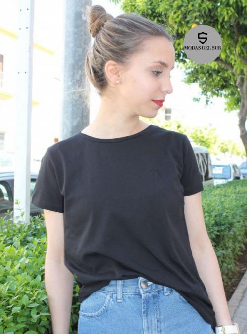 camiseta de manga corta de la marca a la vaquera