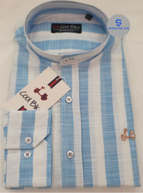 camisa de lino con rayas