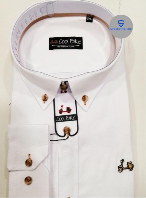 camisa blanca de la marca Cool Bike