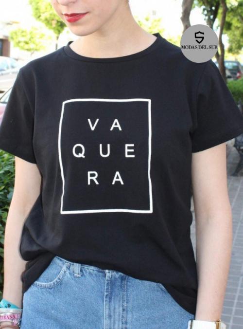 camisa logo de la marca a ala vaquera negro