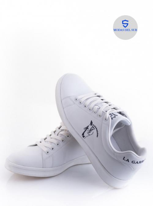zapatos la garrocha blancas