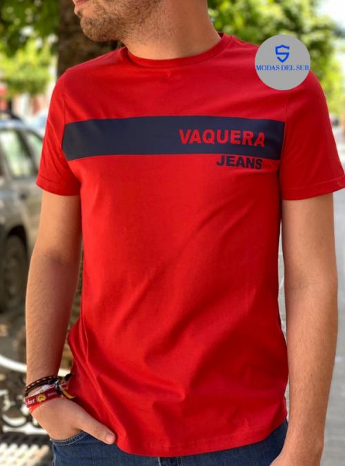 camiseta a la vaquera jeans rojo
