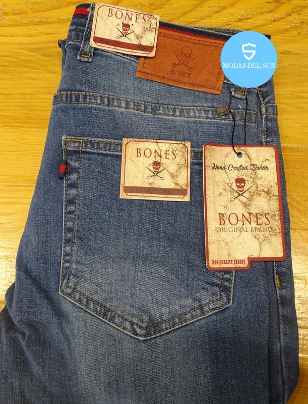 pantalón vaquero azul medio bones