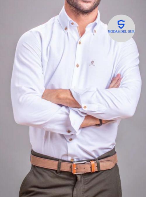 camisa clásica blanca Bones