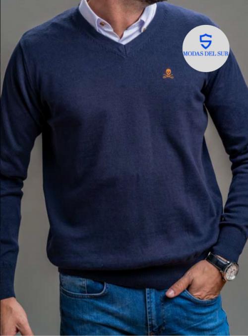jersey de pico azul marino bones