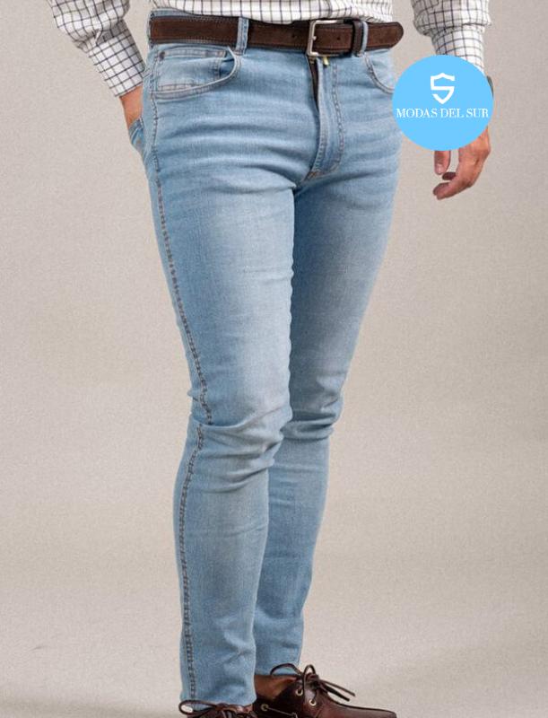 Pantalon Vaquero La Garrocha Azul Claro Modas Del Sur