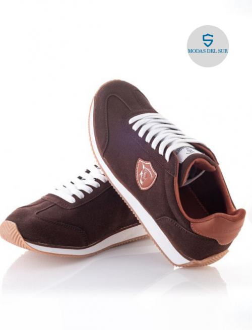 zapatilla marrón la garrocha